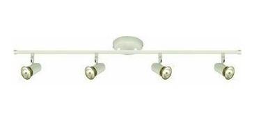 luminária arco para loja 4 luzes p/ lâmpada gu10 bronzearte