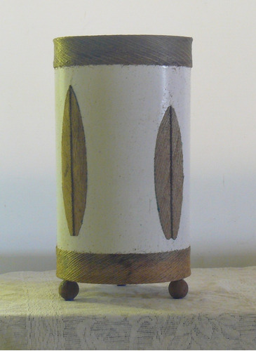 luminária artesanal-abajur de mesa-m