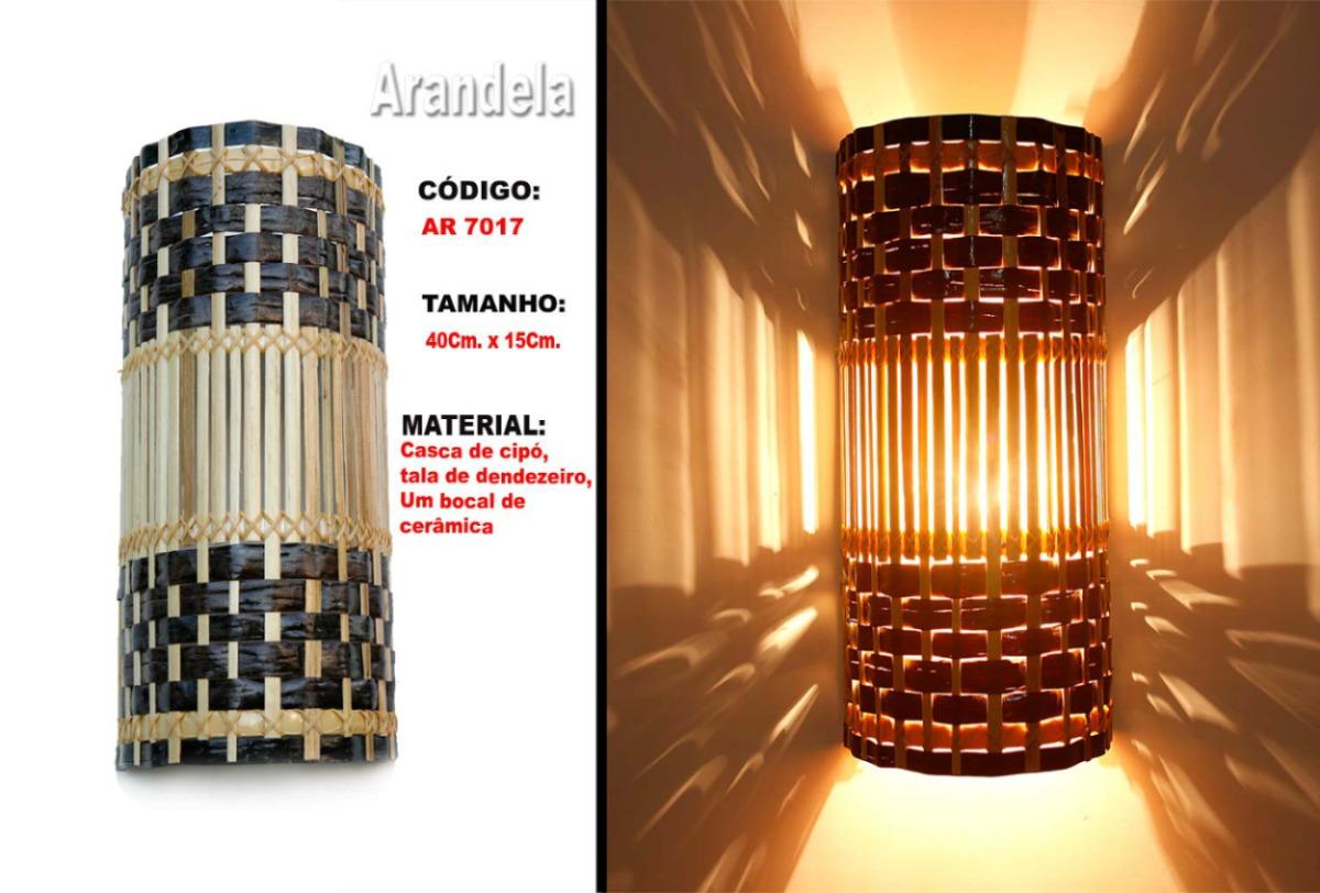 Decoracao De Sala Artesanal ~ Luminária Artesanal , Arandela  Ar7017  R$ 39,90 em Mercado Livre