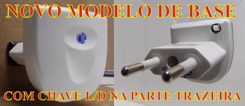 luminária artesanal mini de tomada, dente 3d