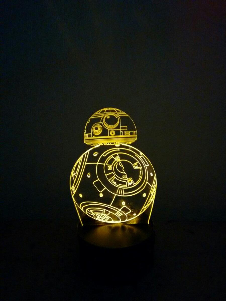 luminária bb8 star wars 3d desenho r 43 99 em mercado livre