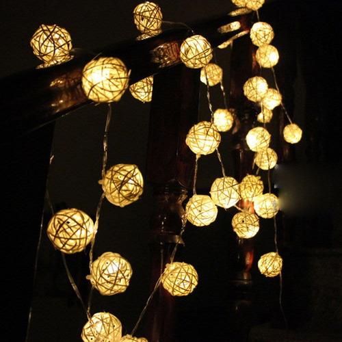 luminaria bola de luz cordão pisca pisca natal decoração