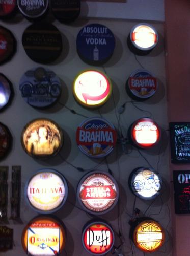 luminaria cerveja dois lados a unica do ml,todos os modelos