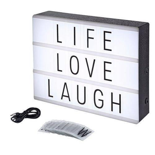 luminária cinema iluminação letras decoração lightbox top !