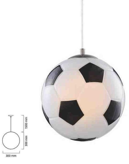 Con Colgante Pantalla De Luminaria Balón Cristal CreWdxoB