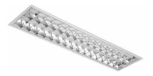 luminária comercial 2x32/36/40w embutir p/ lamp tub abalux