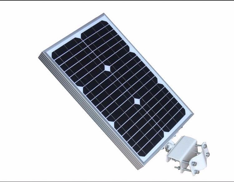 Luminaria con panel solar bateria alumbrado ext led 20w for Alumbrado solar jardin