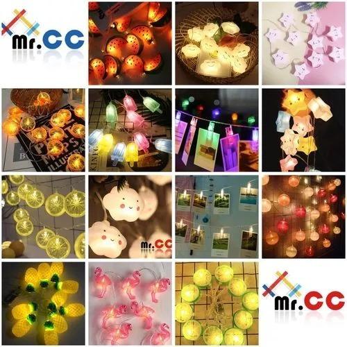luminária cordão de 10 leds fio de luz decoração festa