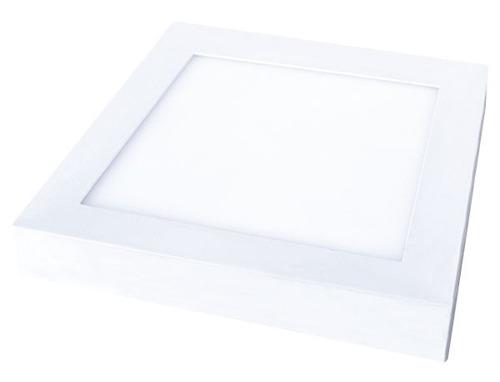 luminaria cuadrada led de aplicar 12w electricaboulebar