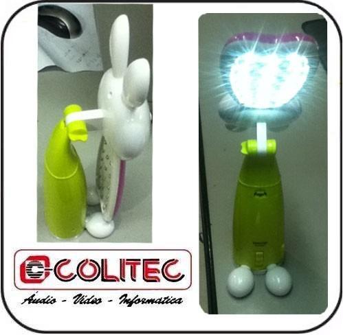 luminaria de 18 leds ( led ) infantil  bichinhos coelhinho
