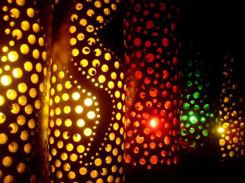 luminaria de bambú - velador - lampara - nektar bambú