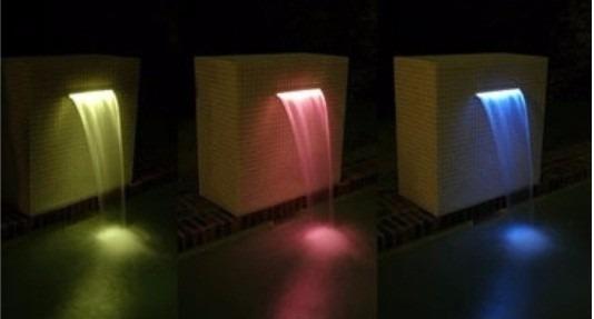Lumin ria de cascata para piscina led rgb tholz 45cm 7 for Luminarias para piscinas