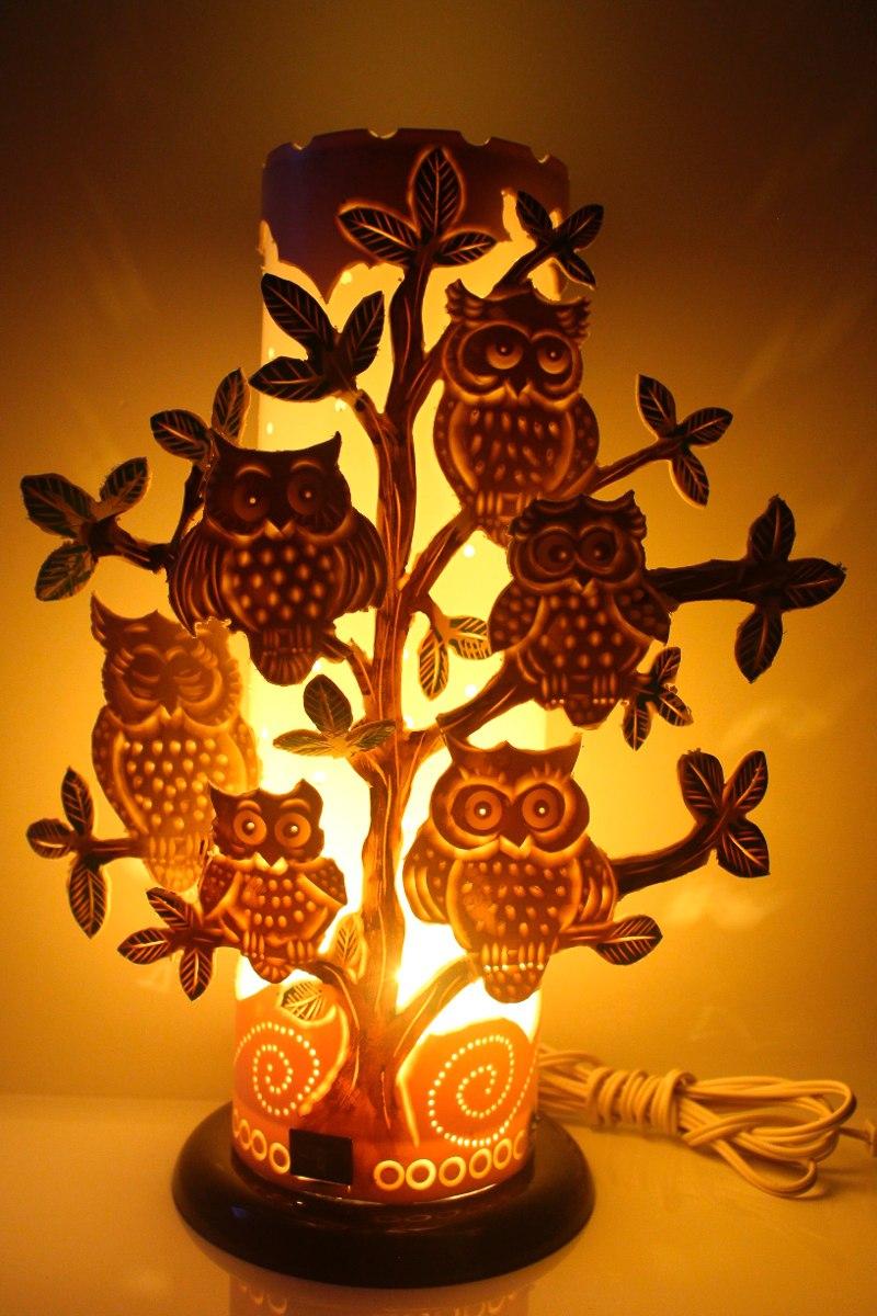Luminaria De Corujas Em Pvc R$ 160,00 em Mercado Livre