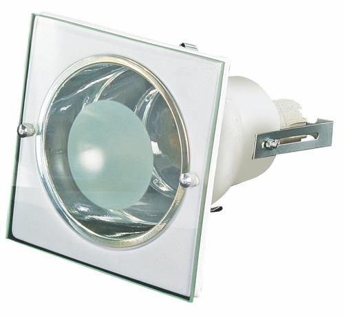 luminária de embutir quad. p/ 1 lâmp.- 11,5cm