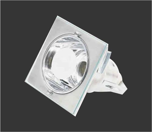 luminária de embutir quadrada p/ 1 lâmpada 14cm