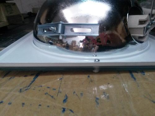 luminária de embutir quadrada p/ 2 lâmpadas - 21cm