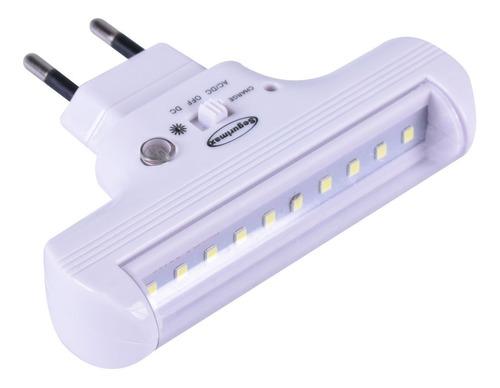 luminária de emergência 2 em 1 led 60 lúmens segurimax biv.