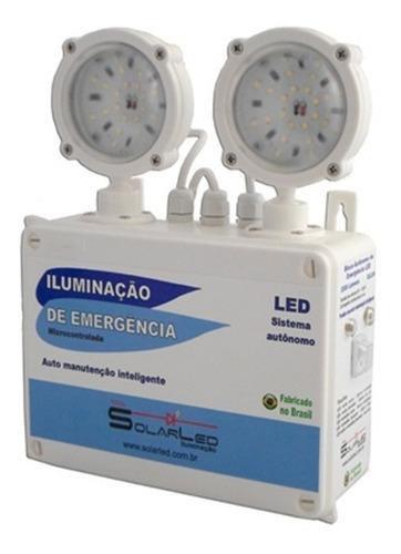 luminária de emergência 2400 lúmens ip66 - auto teste