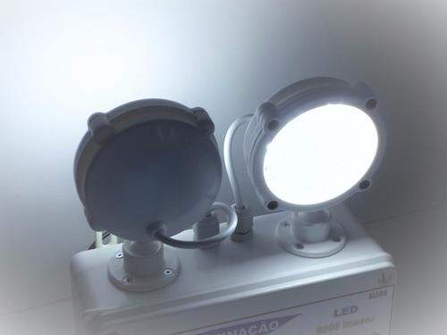 luminária de emergência led 2300 lúmens - solarled