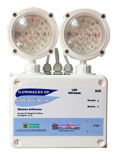 luminária de emergência solarled sll01