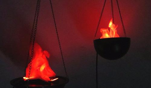 luminária de fogo chamas artificiais - bivolt