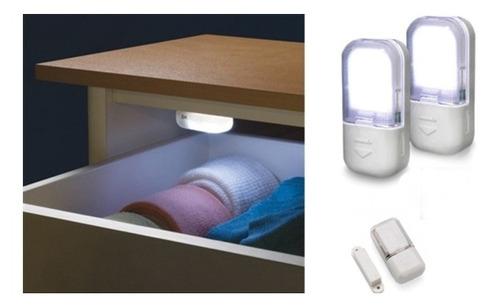 luminaria de guarda roupa closet armario luz automatica leds