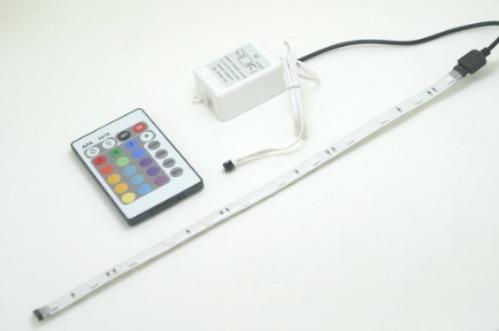 luminária de led colorida para aquário - 18 leds - lumensled