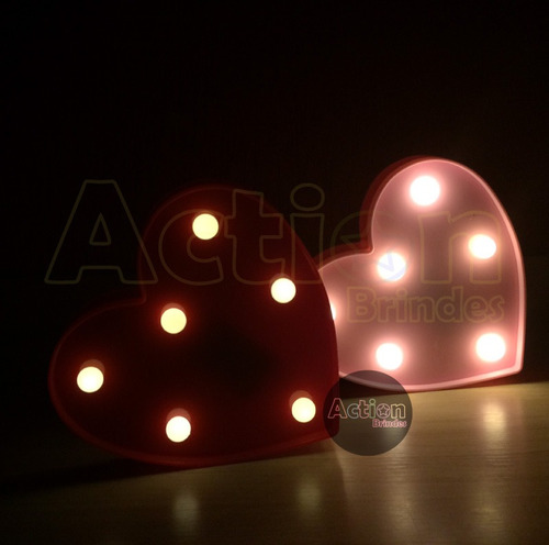 luminária de led decorativa mini coração