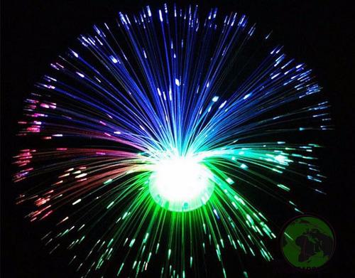 luminaria de mesa led abajur luz fibra otica enfeite