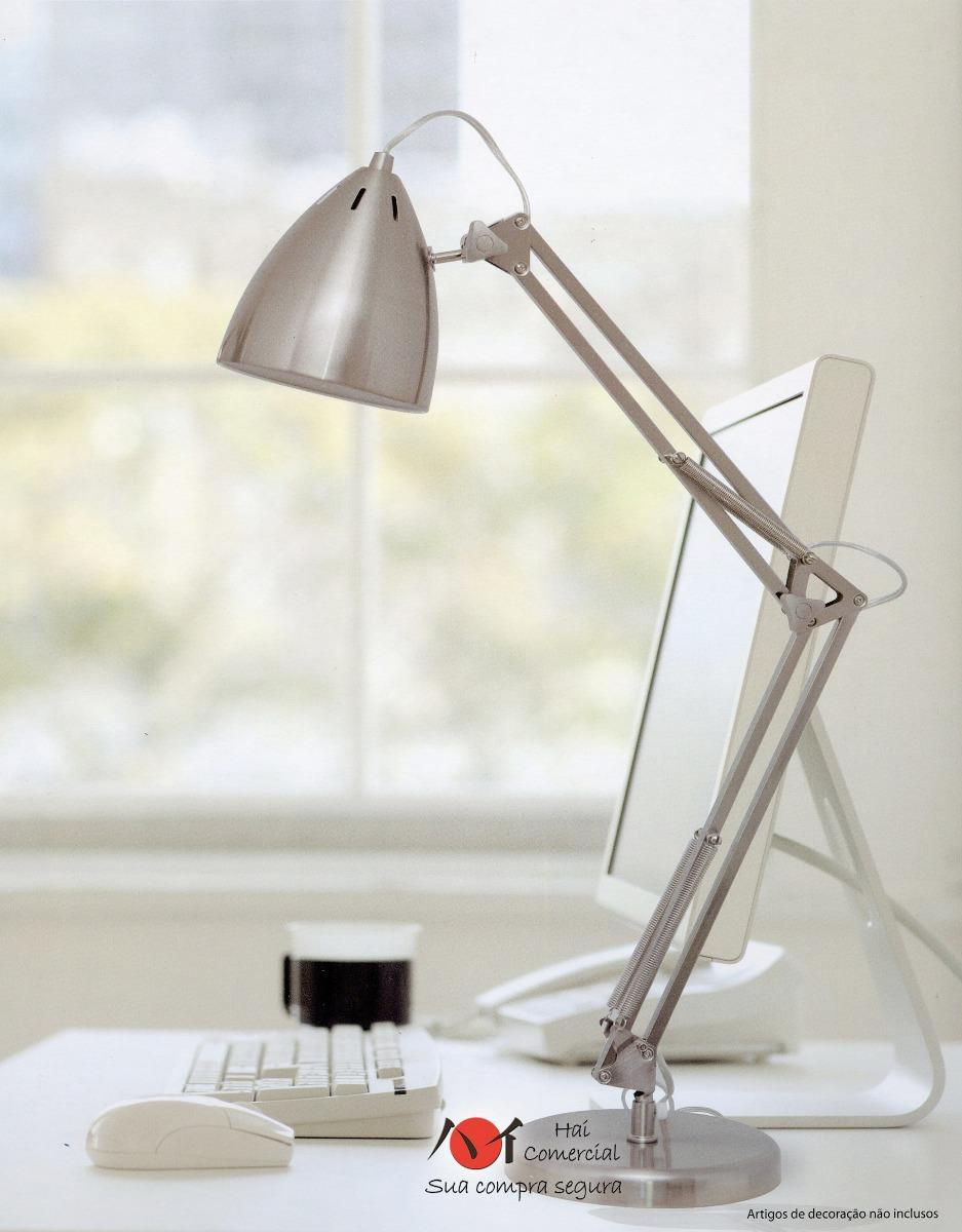Luminária De Mesa Leitura Articulada, Escritório, Arquiteto R$ 228,00 em Mercado Livre