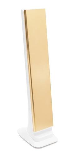 luminária de mesa recarregável led touch dobrável + relógio