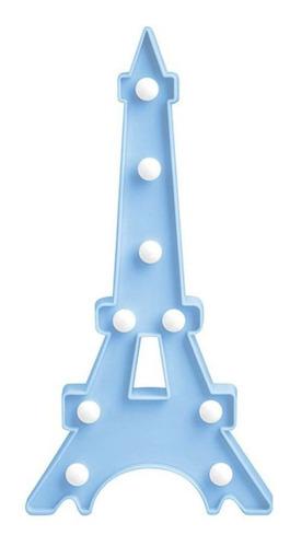 luminária de mesa torre eiffel azul