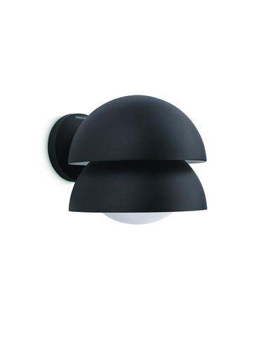 luminaria de pared exterior philips kelapa 20w negra e27