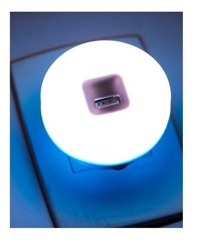 luminaria de parede led abajur de tomada com carregador usb
