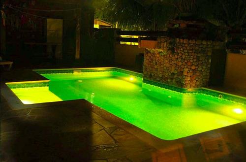 luminária de piscina de led rgb 9w.