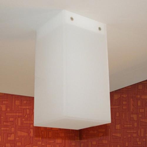 luminária de sobrepor - plafon mozo - acrílico leitoso aço b
