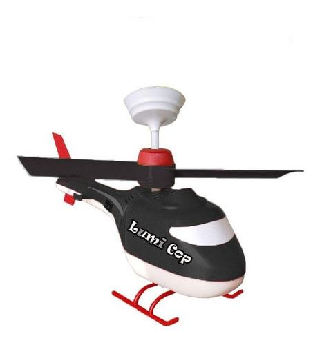 luminária de teto helicóptero infantil criança lampada led