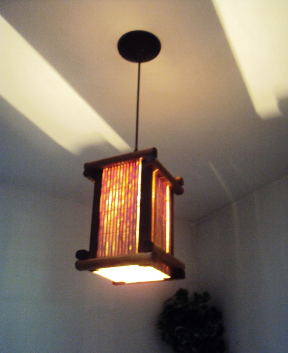 Luminária De Teto Lustre Japonês Rustico Sala Quarto  ~ Luminaria De Teto Para Quarto Juvenil