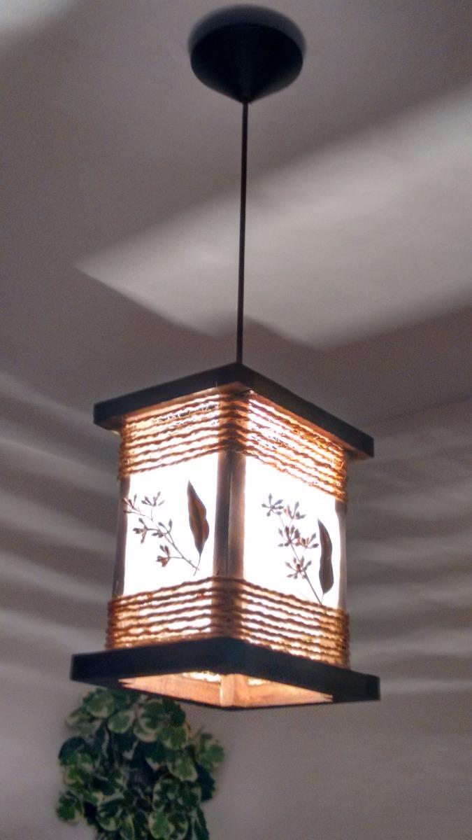 Luminaria De Teto Lustre Rustico Artesanal Sala E Quarto R 389 00  -> Lustres Para Sala Artesanal