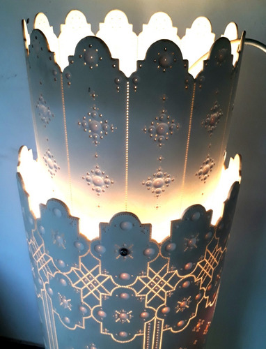 luminária de teto ou abajur em pvc por isnaldo reis - l.1980