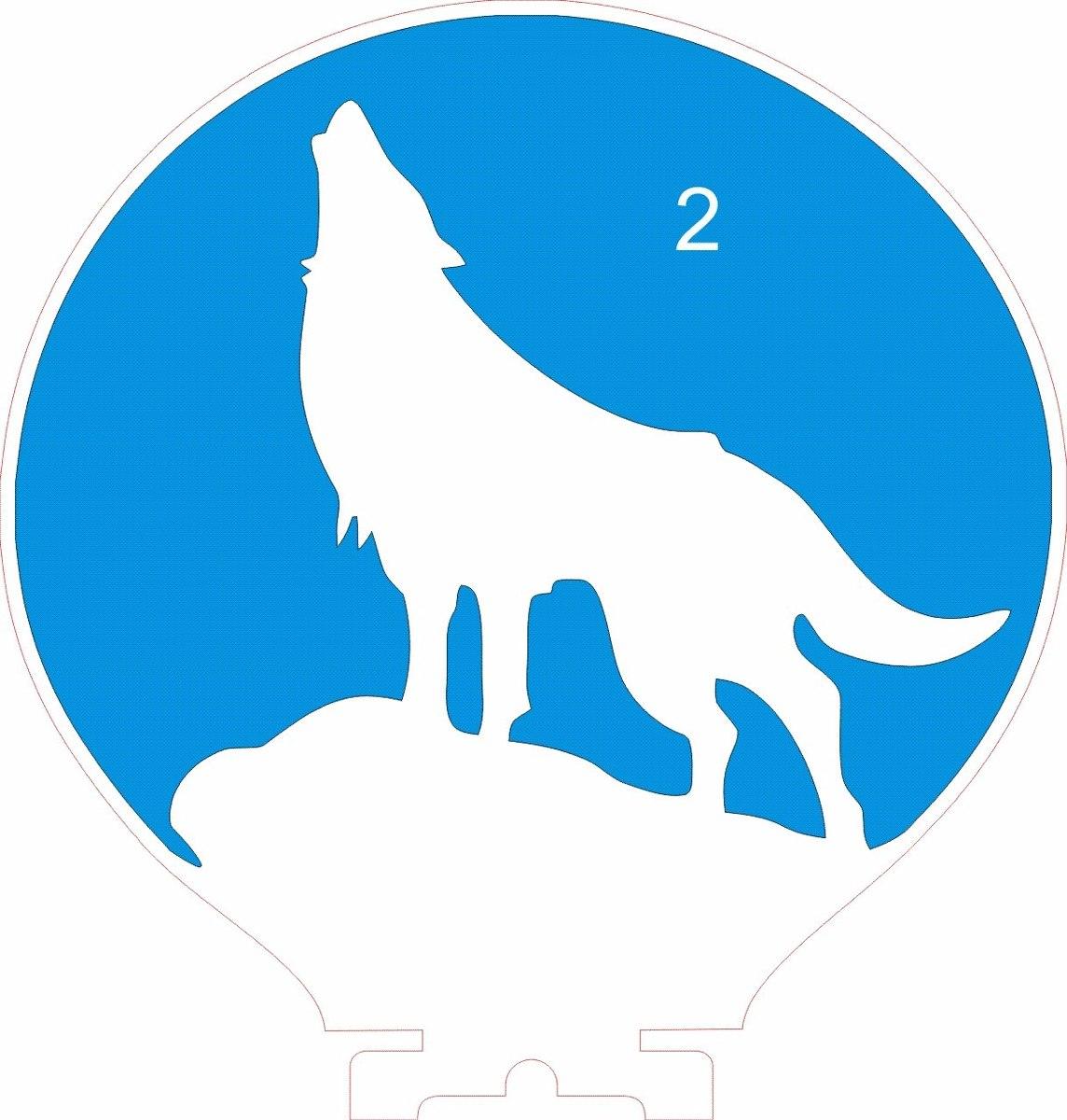 luminária de tomada mini automática silhueta de lobo r 34 95