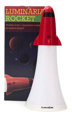 luminária e lanterna rocket 2 em 1 com led