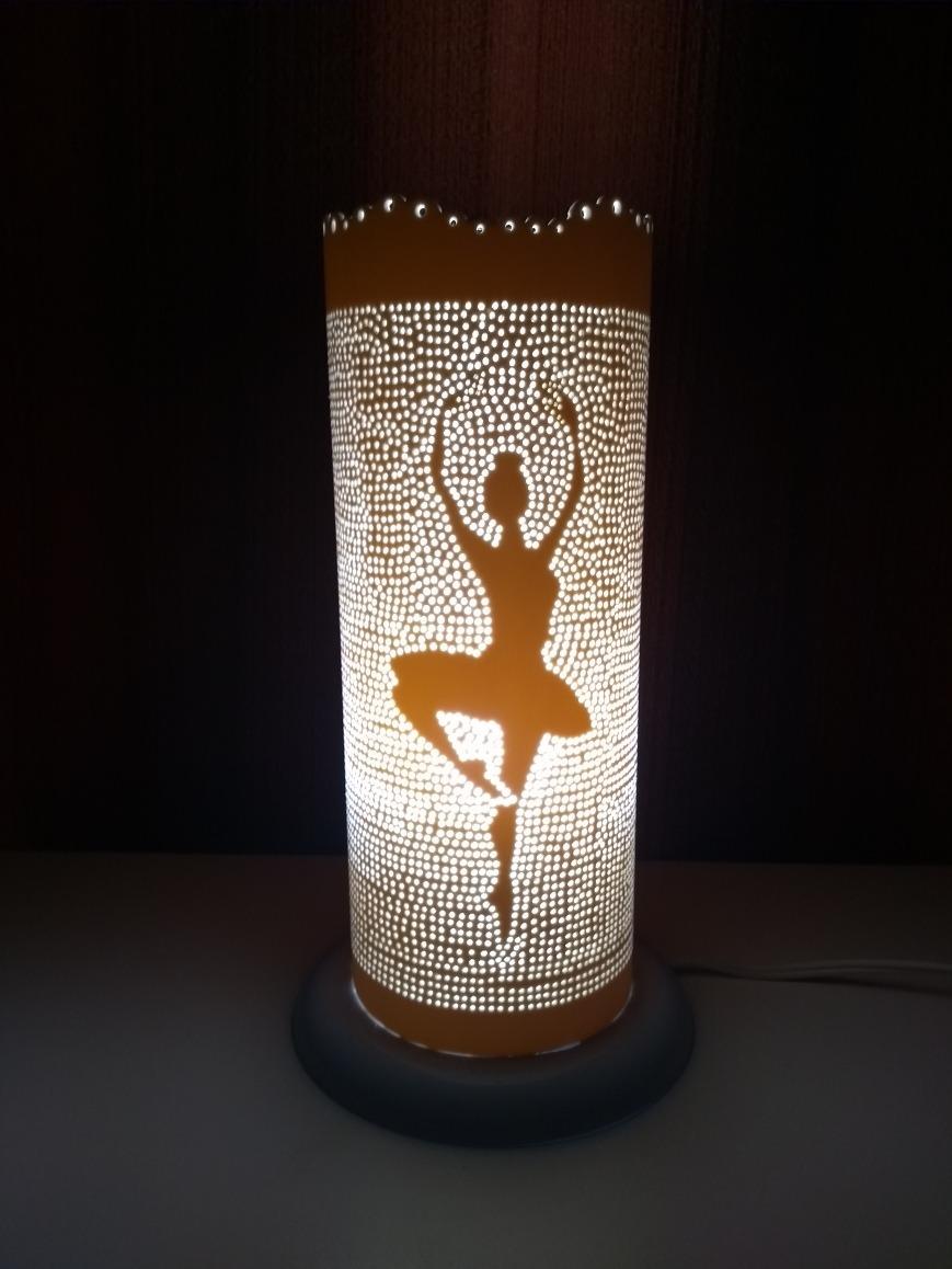 Luminaria Em Cano Pvc Com Desenho De Bailarina R 120 00 Em