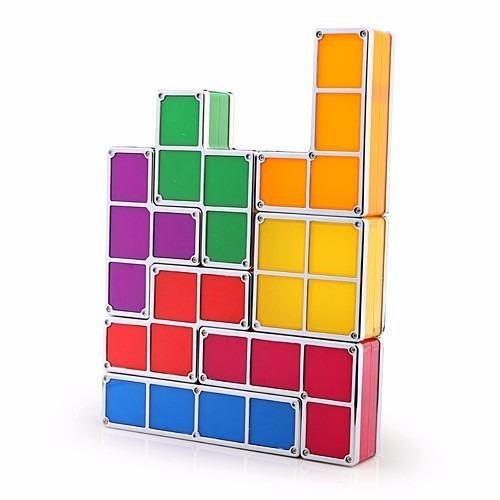 luminária em formato de tetris 7 blocos - monte como quiser