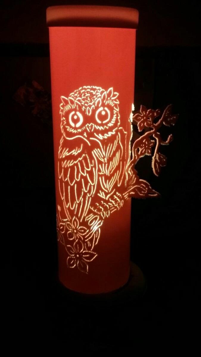 Luminaria Em Pvc Coruja Na Arvore Desenho A Sua Escolha R