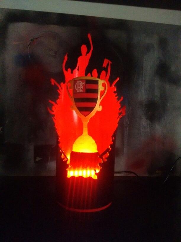 3b4dbde132 Luminária Em Pvc Flamengo Força Da Nação Rubro Negra - R  120