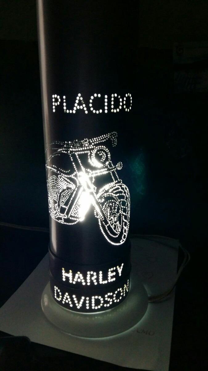 Luminaria Em Pvc Harley Davidson Desenho A Sua Escolha R
