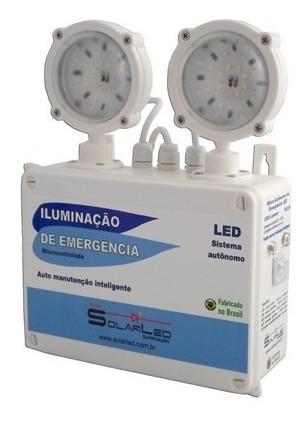 luminária emergencia 2 farois led acima 2300 lumens bivolt