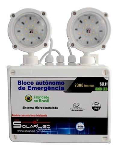 luminária emergência - 2300 lúmens smd led - auto manutenção