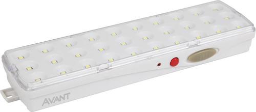 luminária emergência smart 30led 2w bivolt avant viaeletrica